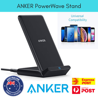 AU39.95 • Buy Anker Wireless Charger PowerWave Stand Qi-Certified For IPhone Samsung