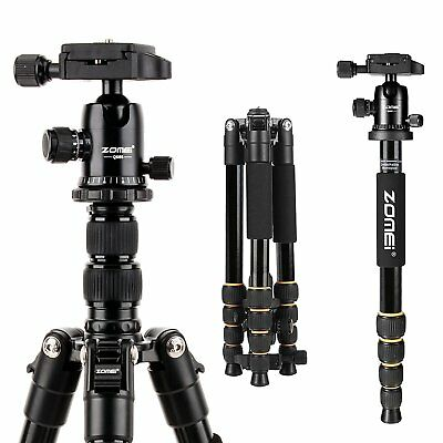 AU86.39 • Buy ZOMEI Q666 Portable Professional Tripod Monopod&Ball Head Travel For DSLR Camera