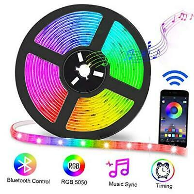 $35.07 • Buy LED Strip Lights For Room With Remote Music Sync 16.4ft Waterproof Color Change