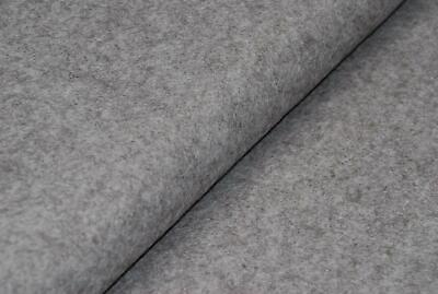HANDICRAFT Wool/Viscose Felt Fabric Material - MARL GREY V1 • 1.99£