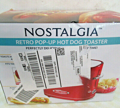 $13.56 • Buy NEW Hotdog Grill Hot Dog Toaster Electric Retro Pop-Up Nostalgia Cooker Bun RED