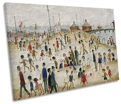 L.S Lowry Lytham Pier CANVAS WALL ART Picture Print • 36.99£