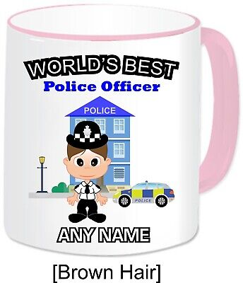 £12.49 • Buy Personalised Gift World's Best Police Mug Cup Cop PC Policewoman Officer Hero