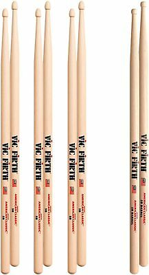 AU38.67 • Buy Vic Firth 5B Hickory Drumsticks WOOD Tip Value Pack Buy 3 Get 4 Pairs
