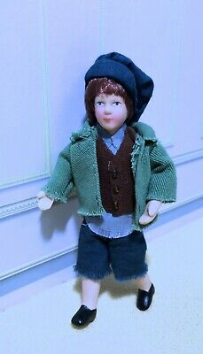 $ CDN27.77 • Buy Dollhouse Miniature Dressed Porcelain Urchin Boy Doll