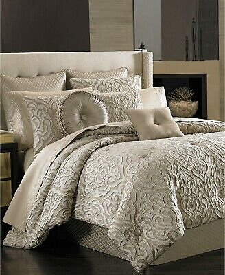 $ CDN355.22 • Buy J. Queen New York Astoria Scroll 4-PC Cal. KING Comforter Set Sand $500 New