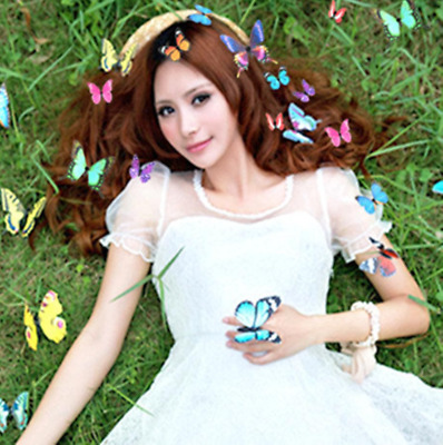 £4.49 • Buy New 3D 10pcs Butterfly Hair Clips Mixed Festival Summer Party Wedding Gift UK