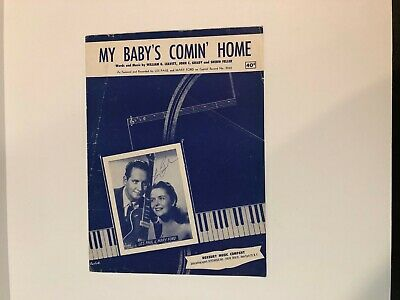 $74.99 • Buy Les Paul Hand Signed Autographed Sheet Music My Baby's Comin  Home