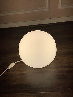 Pre-owned IKEA Round Glass  Table Desk Lighting Lamp White Flat Top N Bottom • 35.76£
