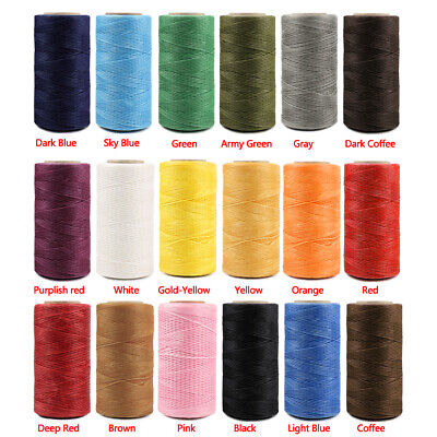 $5.95 • Buy 260M 150D 1mm Leather Sewing Stitching Flat Waxed Thread Durable String Cord DIY