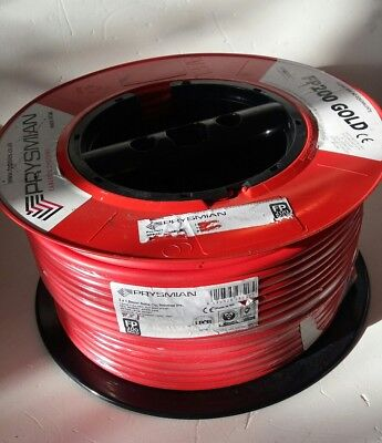 Prysmian Cable 2 X 1.5mm FP200 Gold    Red 300/500v , 100m • 79.99£