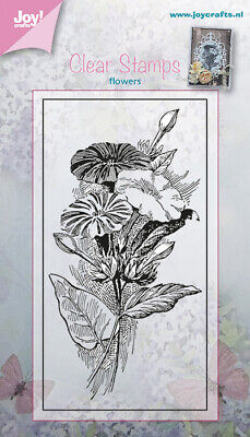 JOY CRAFTS Clear Stamps FLOWERS STAMP 6410-0379  50 X 95mm • 5.75£