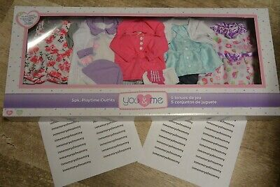 AU106.60 • Buy You & And Me 5 Pack Playtime Baby Doll Outfits Clothes Lot Fits 12-14  Toys R Us