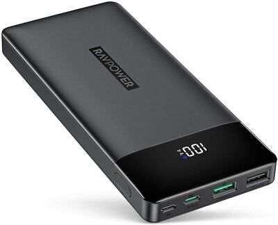 AU62.49 • Buy Portable Charger, PD 3.0 15000mAh Power Bank, RAVPower 30W High-Speed Tri-Output