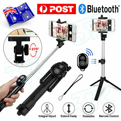 AU15.85 • Buy Unipod Selfie Stick Handheld Tripod Bluetooth Shutter Samsung For IPhone 11 Pro