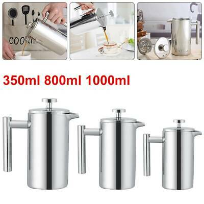 £16.69 • Buy French Press Stainless Steel Cafetieres Coffee Tea Filter Maker Plunger Pitcher