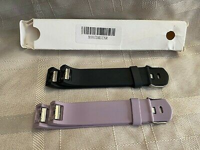 AU7.74 • Buy Fitbit Charge 2 Watch Band Black Lavender, Bands New Open Box