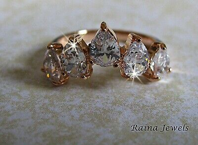 AU8.99 • Buy 18k Rose Gold Filled Diamond Simulated Women Wedding Engagement Ring Size 6
