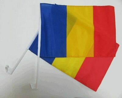 ROMANIA ROMANIAN Car Window Flag 2 Pack.  FREE UK Delivery! • 11.99£