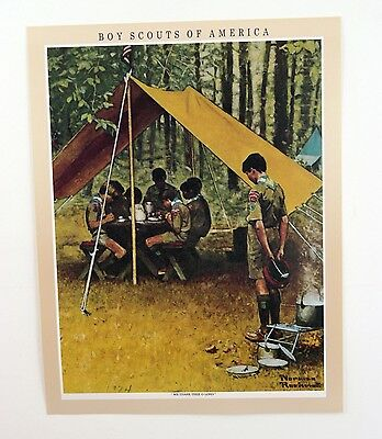 $ CDN22.82 • Buy Vintage 1970's Norman Rockwell Boy Scout  We Thank Thee O' Lord Print