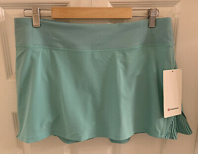 $ CDN91.16 • Buy Nwt Lululemon Play Off The Pleats Skirt Washed Marsh Run Tennis Golf Skort Short
