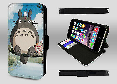 My Neighbor Totoro Studio Ghibli Anime Art Wallet Leather Phone Case Flip Cover • 9.95£