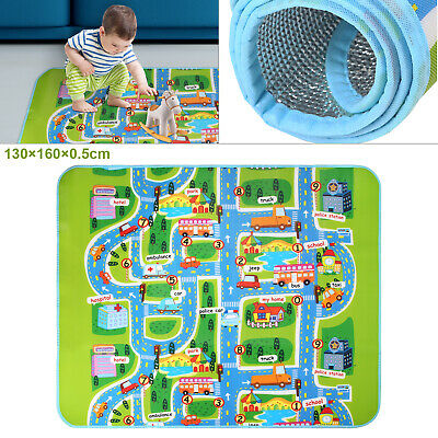 £15.29 • Buy Children's Kids Rugs Town Road Map City Cars Toy Rug Play Village Mat 130x160cm