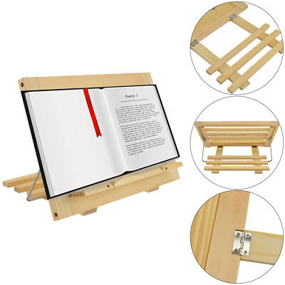 Adjustable Wooden Holder For Phone Kindle IPad Tablet Books Stand Reading Stand • 10.59£