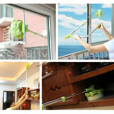 U-type Telescopic High Rise Window Cleaner Glass Dust Cleaning Brush Squeegee • 9.59£