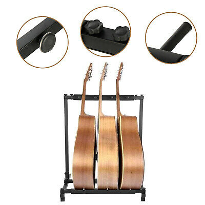 $ CDN26.44 • Buy 3 Way Multi Guitar Stand Foldable Acoustic Electric Electric Bass Guitar Rack UK