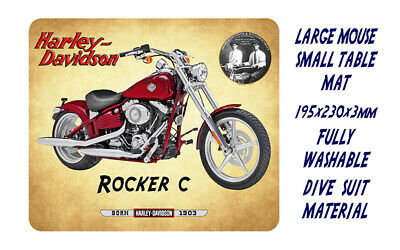 AU12.95 • Buy Harley Davidson Rocker C, Motorcycle -  Mouse Mat / Small Place Mat - Red