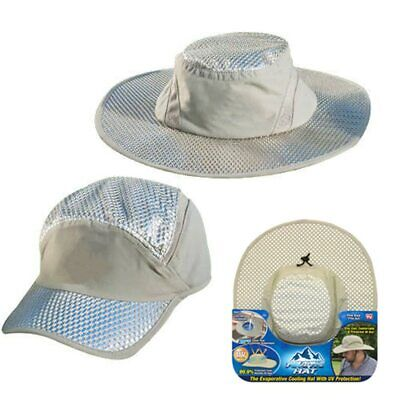 $9.98 • Buy Hydro Cooling Sun Hat Arctic Cap Hat With UV Protection Bucket Hat Ice Sunscreen
