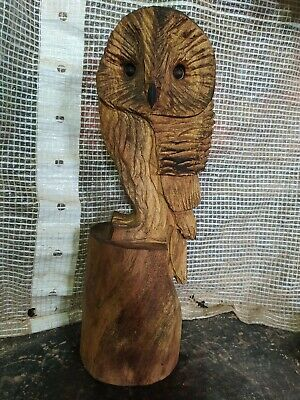 Great Christmas Gift Sussex Chainsaw Wood Carving Owl Garden Rustic Sculpture  • 32£