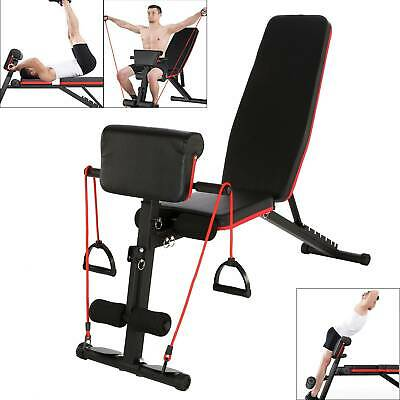 Adjustable Weight Bench Fitness Home Training Gym Utility Exercise Bench Press • 53.99£