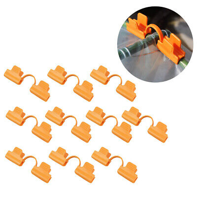 10pc Plastic Greenhouse Film Cover Fixing Snap Clamp Garden Farm Shade Net Clips • 5.66£