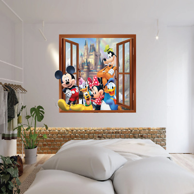 Mickey Mouse And Friends Smash Through Wall Art Sticker Vinyl Decal 3d Effect  • 14.99£
