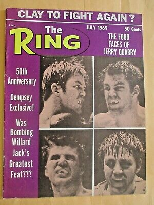 $4.99 • Buy The Ring Magazine July 1969 Jerry Quarry On Cover