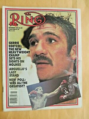 $1.99 • Buy The Ring Magazine November, 1983, Gerrie Coetzee On Cover