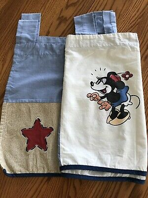 Disney Mickey & Minnie Mouse Window Curtain Valance Blue Beige Red Stars Vtg  • 10.73£