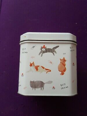 Sweet Little Tin With Cats On (empty) • 7.99£