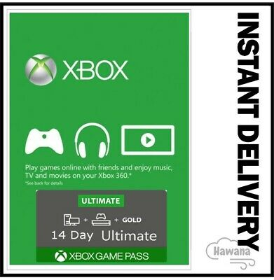 $ CDN2.49 • Buy Xbox Live Gold + Game Pass (Ultimate) 14 Day 2 Weeks Trial Code