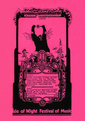 £11.95 • Buy Isle Of Wight Festival Of Music  - Promotional Poster 1969 - Wall Art Poster