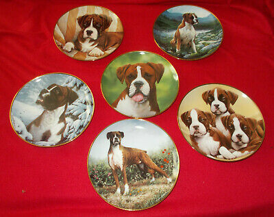 £13.50 • Buy Boxer Dog & Boxer Dog Puppies Plates By Simon Mendez  - Select Plate