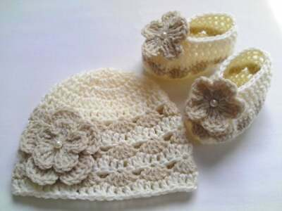 Crochet Pattern Baby Hat And Booties Set, SAME DAY Emailed To Your Email PDF27. • 1.49£