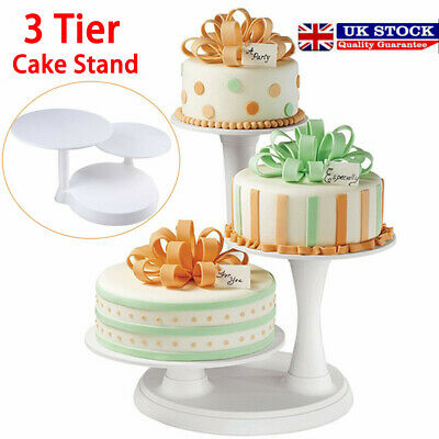 £14.99 • Buy 3 Tier White Round Cake Rack Food Display Stand Home Party Wedding Holder Gift