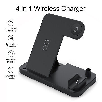 $ CDN27.05 • Buy 4 In 1 Wireless Charger Stand For All QI Enabled Phones And Apple Watch Series