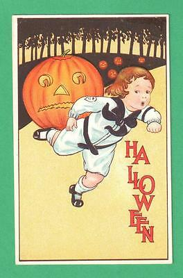 $ CDN36.28 • Buy 1914 Halloween Postcard Boy Sailor Suit Forest Frightened By Jols