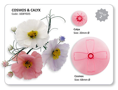 JEM 2 Set COSMOS & CALYX Flower Icing Cut Out Cutters Sugarcraft Cake Decorating • 3.79£
