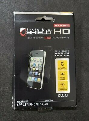 £2.17 • Buy New Version Genuine ZAGG Invisible Shield HD Apple IPhone 4/4s Phone Protection