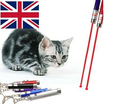 Laser Pen Cat Kitten Fun Exercise Play Toy Mouse Projecting Flash Pointer-uk • 2.55£